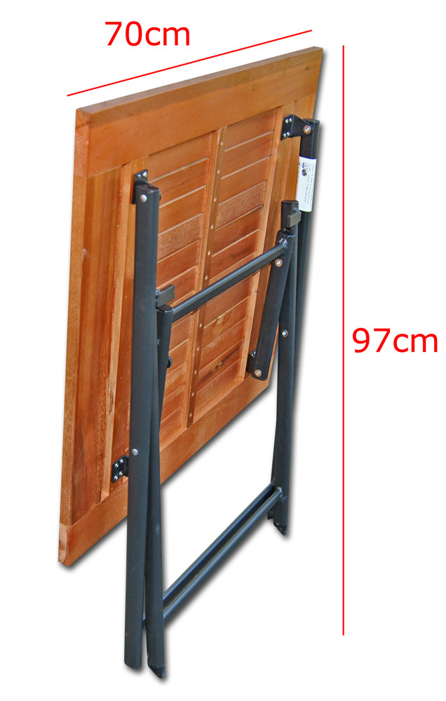 klapptisch holz 70x70 alu gestell eukalyptus balkontisch gartentisch holztisch ebay. Black Bedroom Furniture Sets. Home Design Ideas