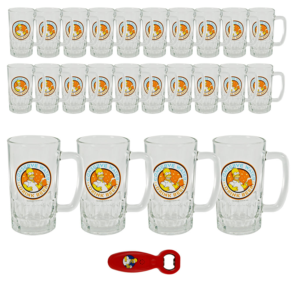 auswahl 2 24 simpsons bierglas 0 5l 1x flaschen ffner bier biergl ser 500ml ebay. Black Bedroom Furniture Sets. Home Design Ideas
