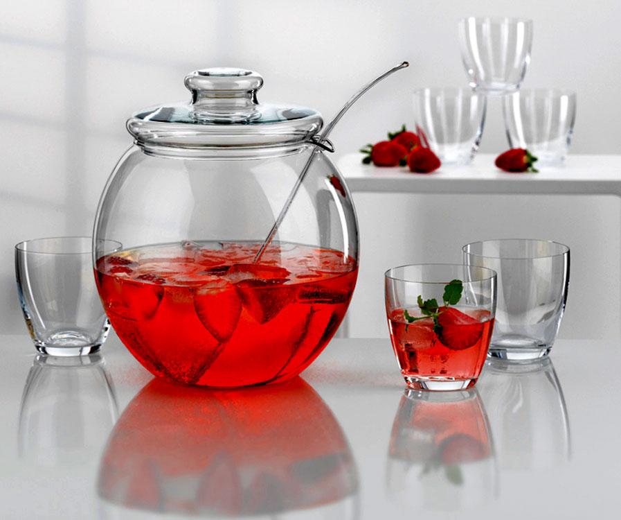 bohemia cristal bowle set libera geschenkkarton bowlenset bowle gl ser ebay. Black Bedroom Furniture Sets. Home Design Ideas