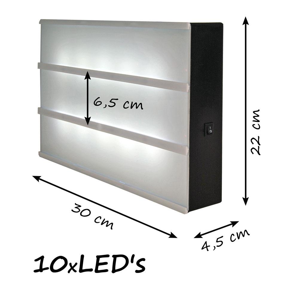 leuchteschild inkl batterien led box leuchtkasten. Black Bedroom Furniture Sets. Home Design Ideas