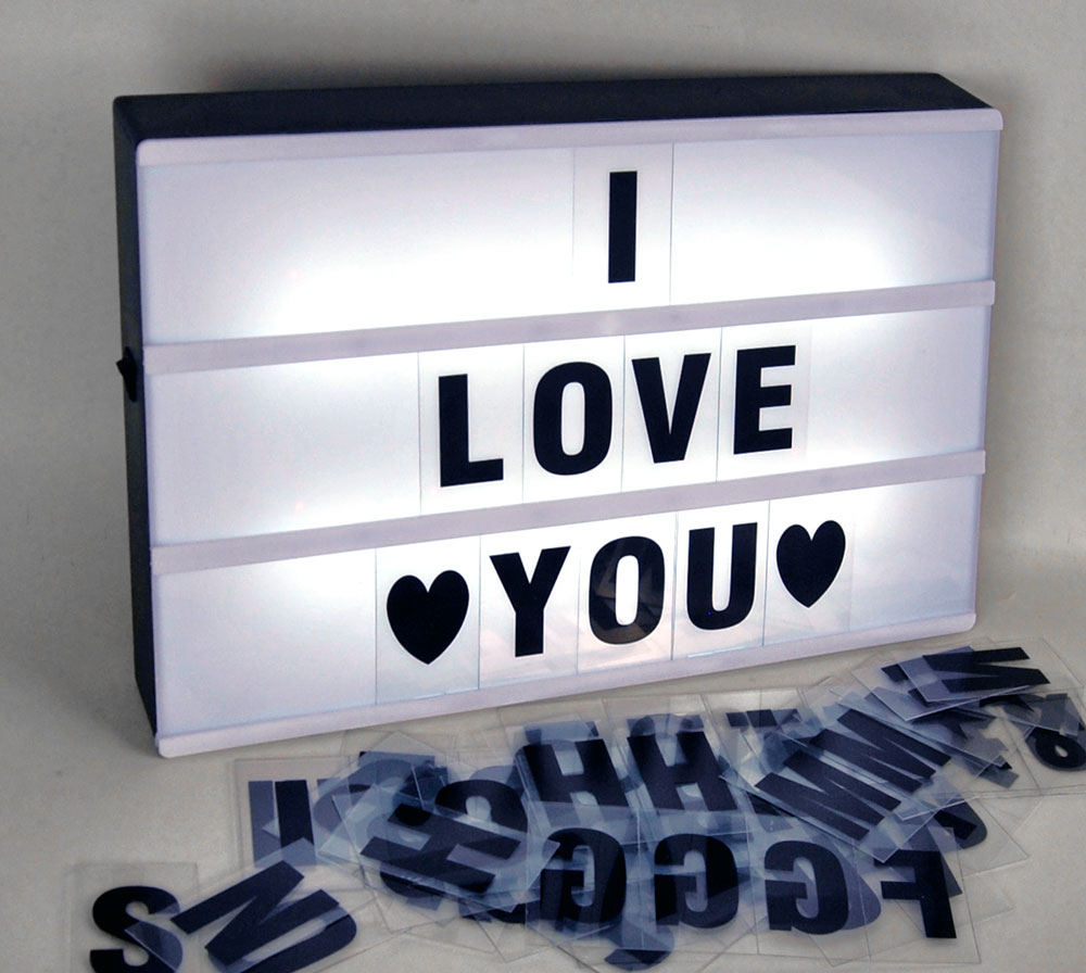leuchteschild inkl batterien led box leuchtkasten buchstaben lightbox werbung ebay. Black Bedroom Furniture Sets. Home Design Ideas