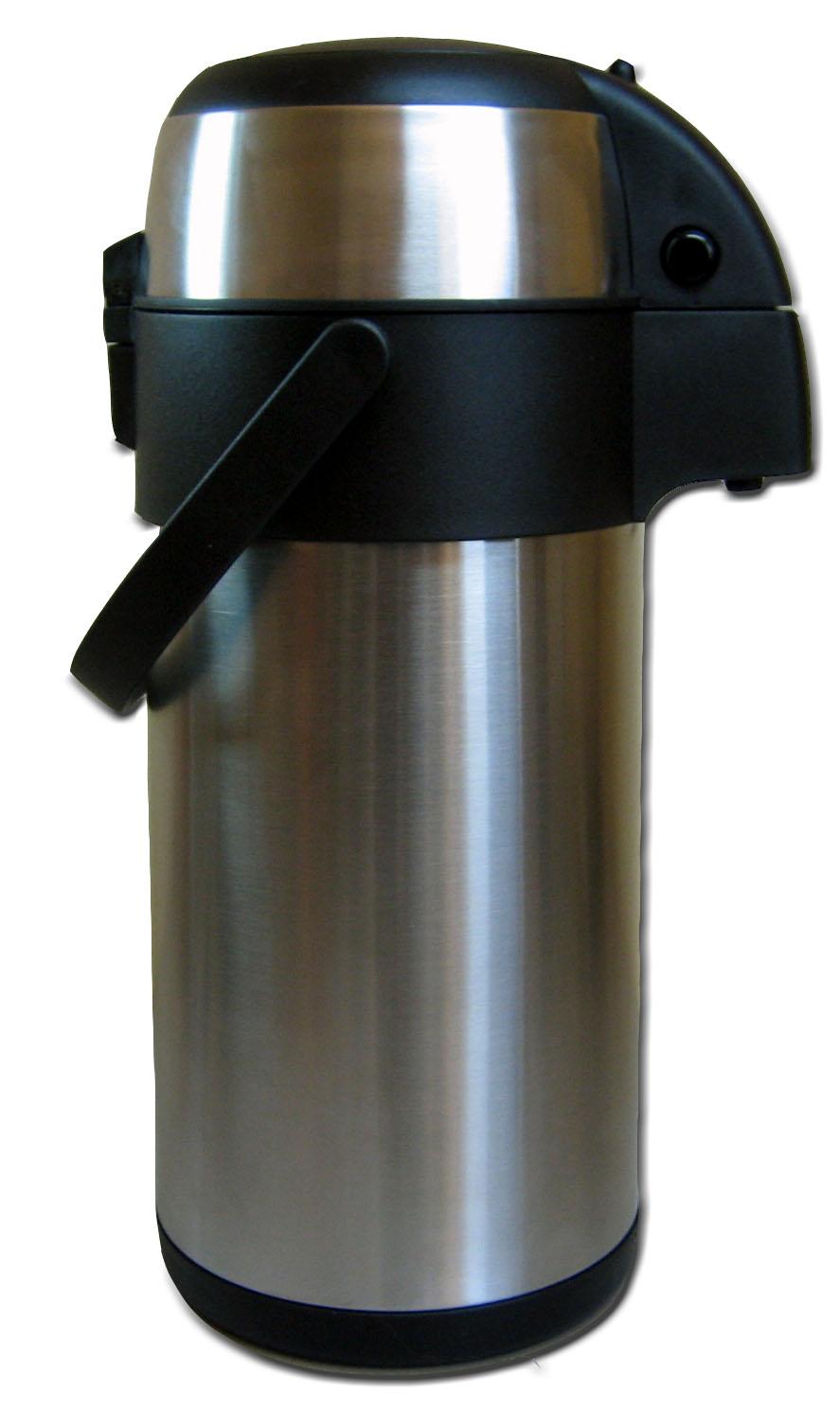 5l airpot edelstahl pumpkanne isolierkanne thermoskanne ebay. Black Bedroom Furniture Sets. Home Design Ideas