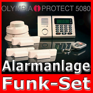 funk alarmanlage olympia protect rauchmelder brandmelder alarm an handy ebay. Black Bedroom Furniture Sets. Home Design Ideas