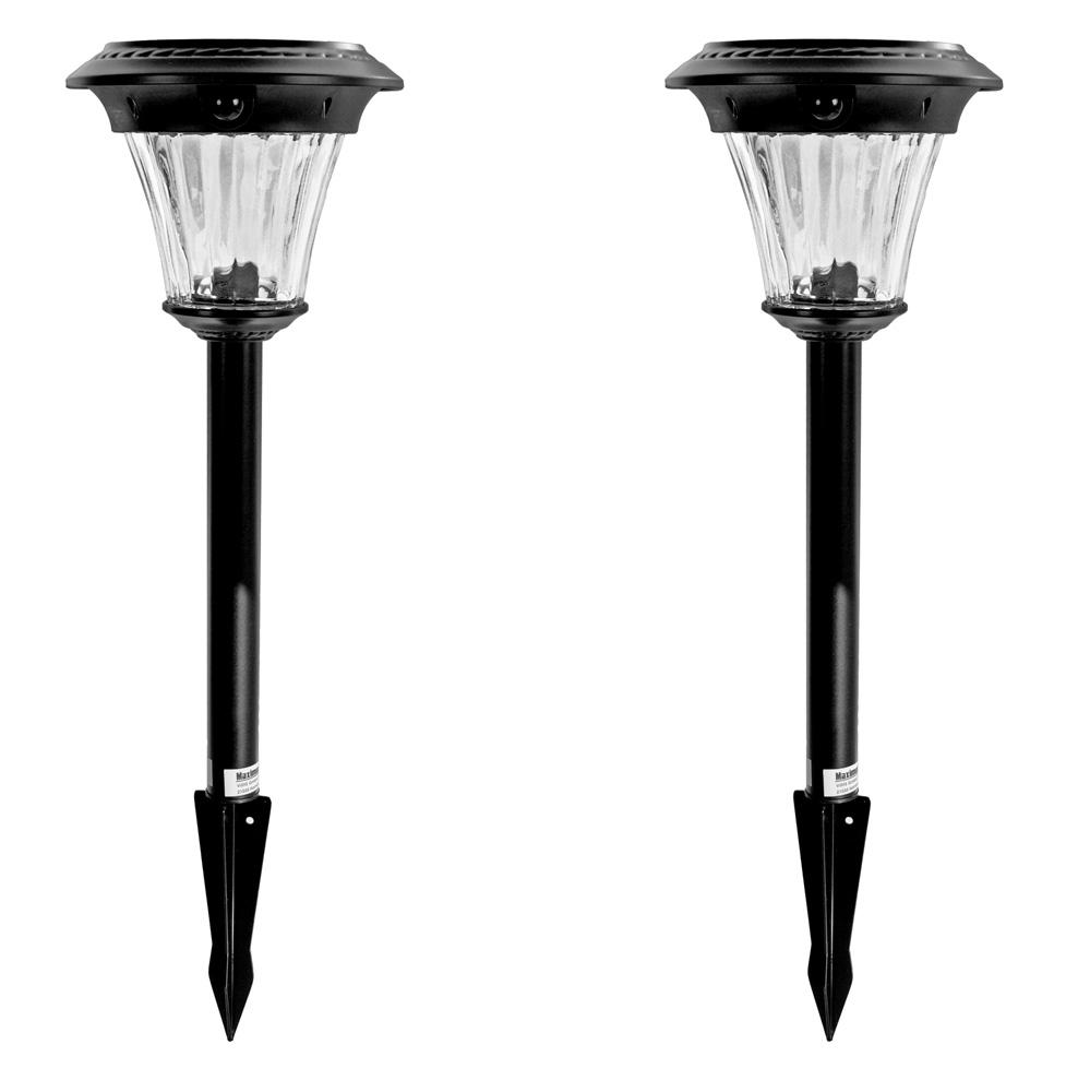 2 x led solar wegeleuchte bewegungsmelder glas metall gartenlicht solarleuchte ebay. Black Bedroom Furniture Sets. Home Design Ideas