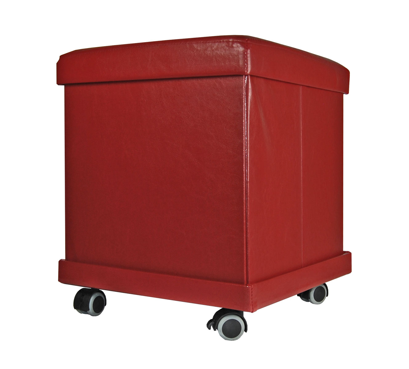 sitzhocker 37x37x43 rollbar sitzhocker hocker sitzw rfel aufbewahrungsbox rollen ebay. Black Bedroom Furniture Sets. Home Design Ideas