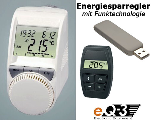 funk energiesparregler heizk rperthermostat thermostat heizregler fernbedienung ebay. Black Bedroom Furniture Sets. Home Design Ideas