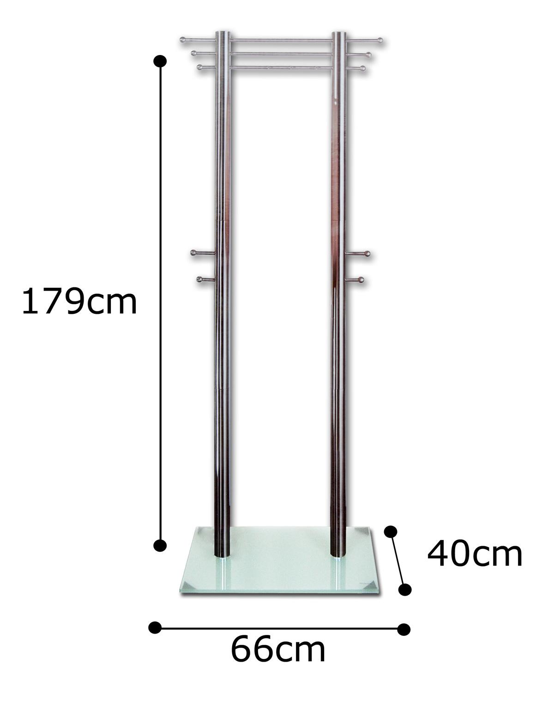 Garderobe edelstahl sicherheits glas metall sehr massiv for Garderobe edelstahl