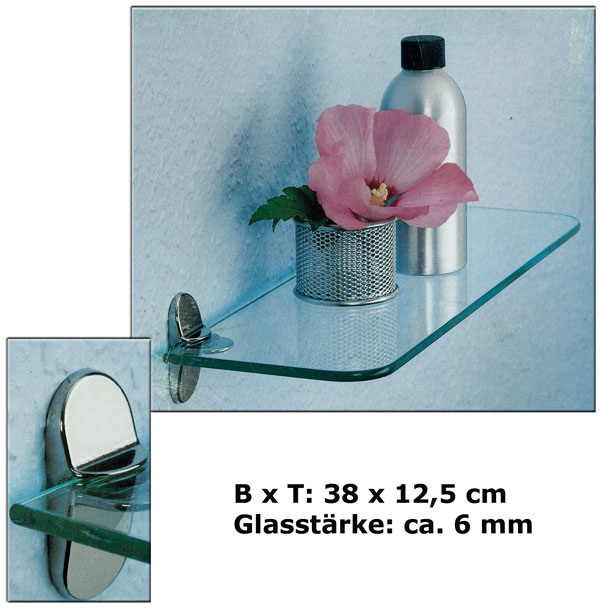 Wandregal-Badregal-Ablage-Regal-Glasablage-Glas-Glasregal-Auswahl-Glasregale