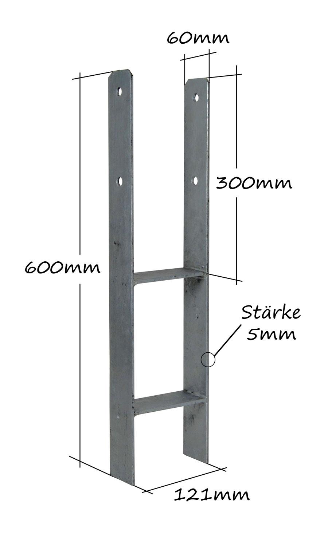 WPC Unterkonstruktion 40x30x2000 mm für Terrassendiele Terrasse Diele Holzdiele