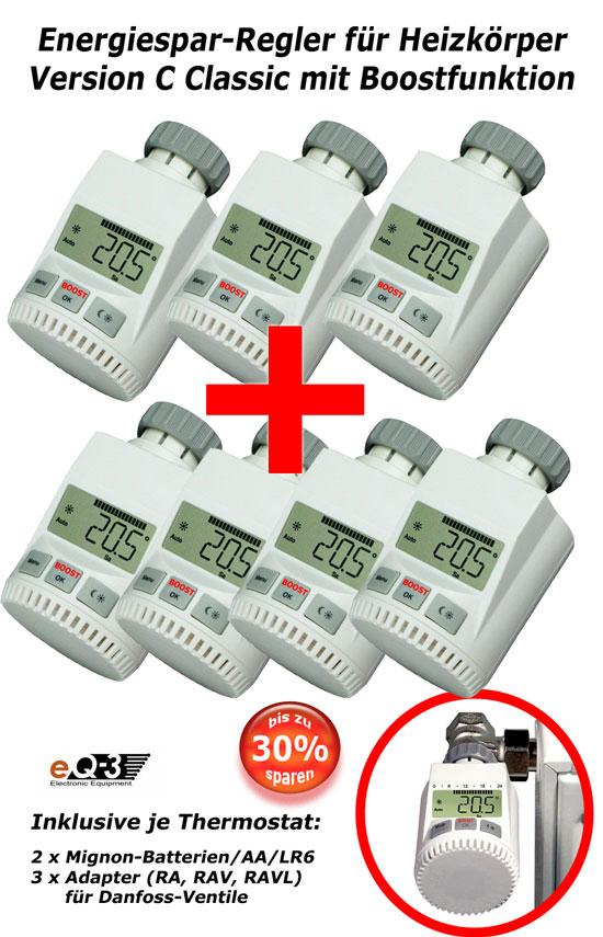 7 x heizk rper thermostat heizregler thermostatventil ebay. Black Bedroom Furniture Sets. Home Design Ideas