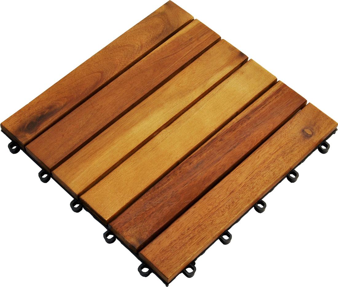 holzfliesen 30x30 stecksystem akazie terrasssenfliesen. Black Bedroom Furniture Sets. Home Design Ideas