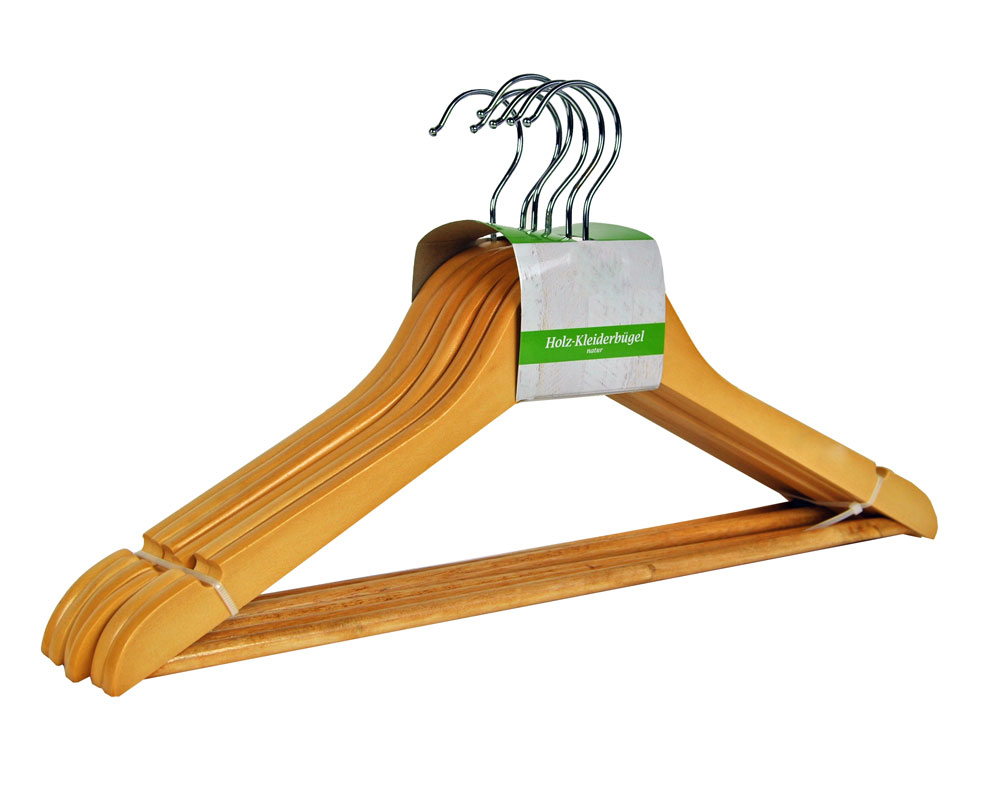 Percha Para Vestidos Pantalones Madera Holzkleiderbugel Set Ebay