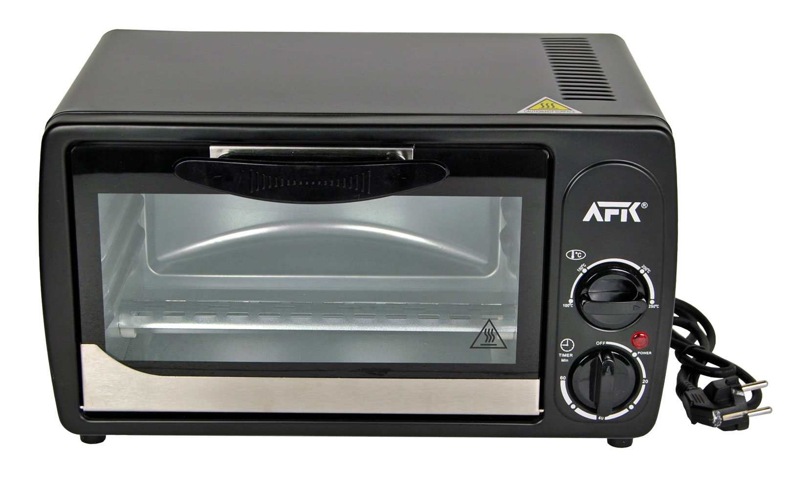 afk minibackofen 1000w timer pizzaofen 26cm ofen ober unterhitze backofen 729389598488 ebay. Black Bedroom Furniture Sets. Home Design Ideas