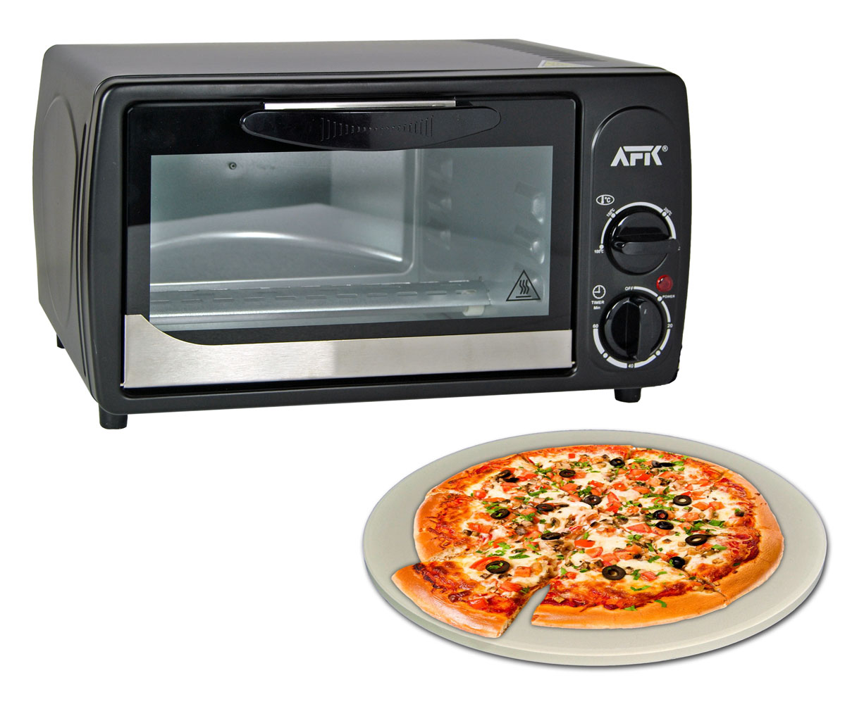 minibackofen 12l pizzastein timer pizzaofen ofen ober und unterhitze backofen ebay. Black Bedroom Furniture Sets. Home Design Ideas