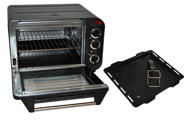 minibackofen backautomat 15l mit umluft 1380w backofen. Black Bedroom Furniture Sets. Home Design Ideas
