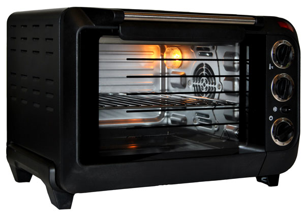 minibackofen backautomat 15l mit umluft 1380w backofen ofen hei luft schwarz ebay. Black Bedroom Furniture Sets. Home Design Ideas