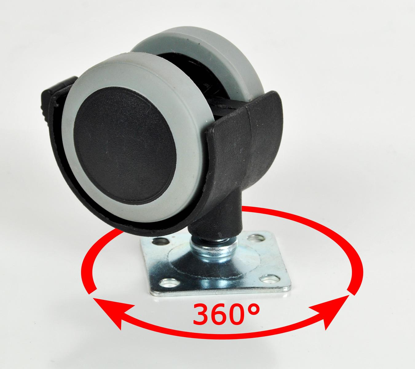 m belrolle bremse platte gummirolle transportrollen bockrolle lenkrolle 40mm ebay. Black Bedroom Furniture Sets. Home Design Ideas