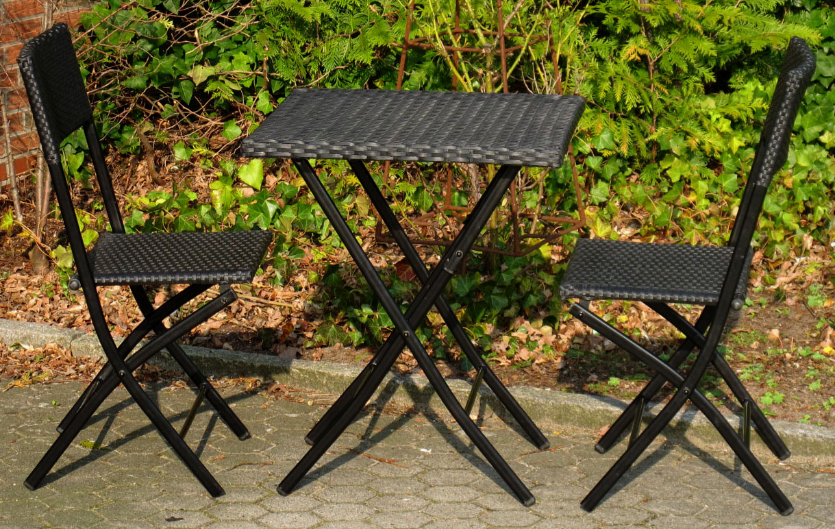 polyrattan cafe set balkonset gartenset klapptisch. Black Bedroom Furniture Sets. Home Design Ideas