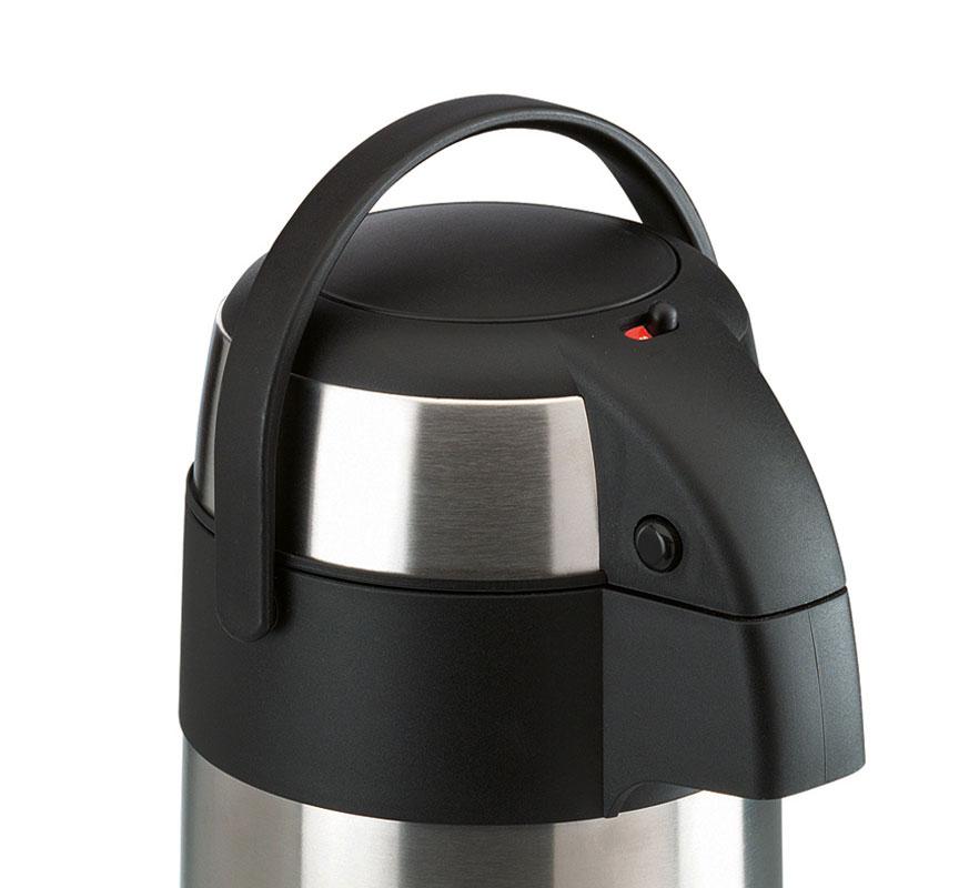 airpot 3l edelstahl pumpkanne isolierkanne thermoskanne kaffeekanne teekanne. Black Bedroom Furniture Sets. Home Design Ideas
