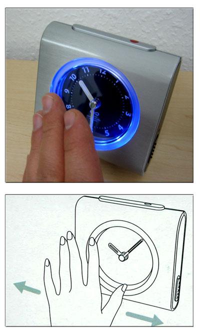 Wecker mit atom funkuhr funktion ebay bilderrahmen ideen for Ikea funkuhr