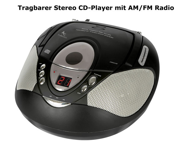 tragbarer stereo cd player radio boombox musik anlage ebay. Black Bedroom Furniture Sets. Home Design Ideas