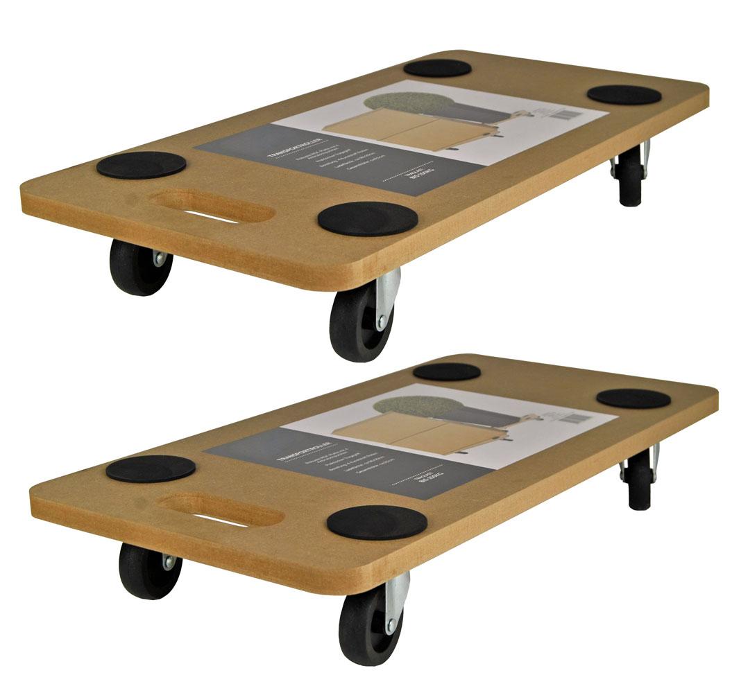 Transportroller Möbelroller Rollbrett Möbelhund Roller Transporter 200KG 2 Stk